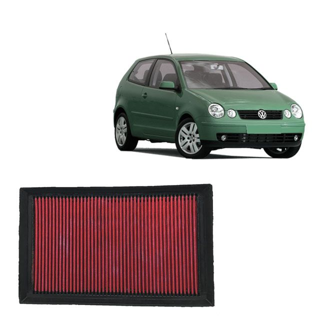 Filtro De Ar Alta Performance VW Polo 1.6 8V MI 2002 a 2008