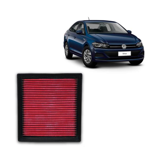 Filtro De Ar Alta Performance  VW Virtus 1.6 MSI 2018->