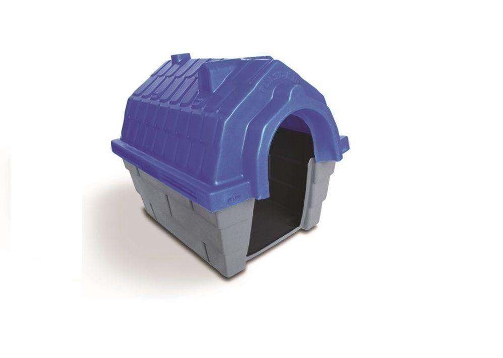 Casinha Cachorro Plástica nº 01 Azul