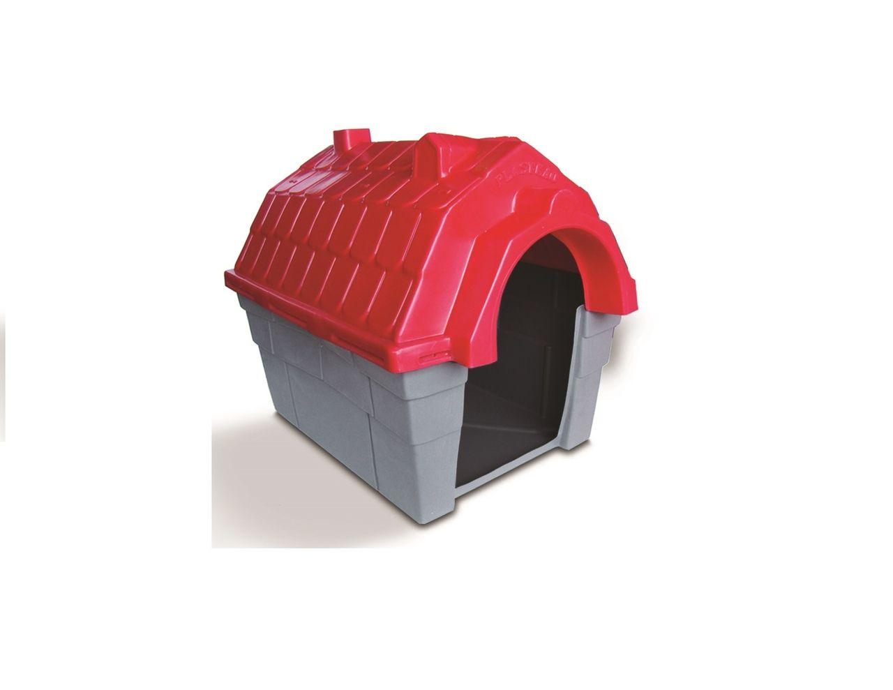 Casinha Cachorro Plástica nº 01 Vermelha