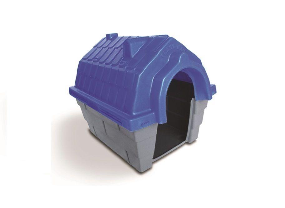 Casinha Cachorro Plástica nº 02 Azul