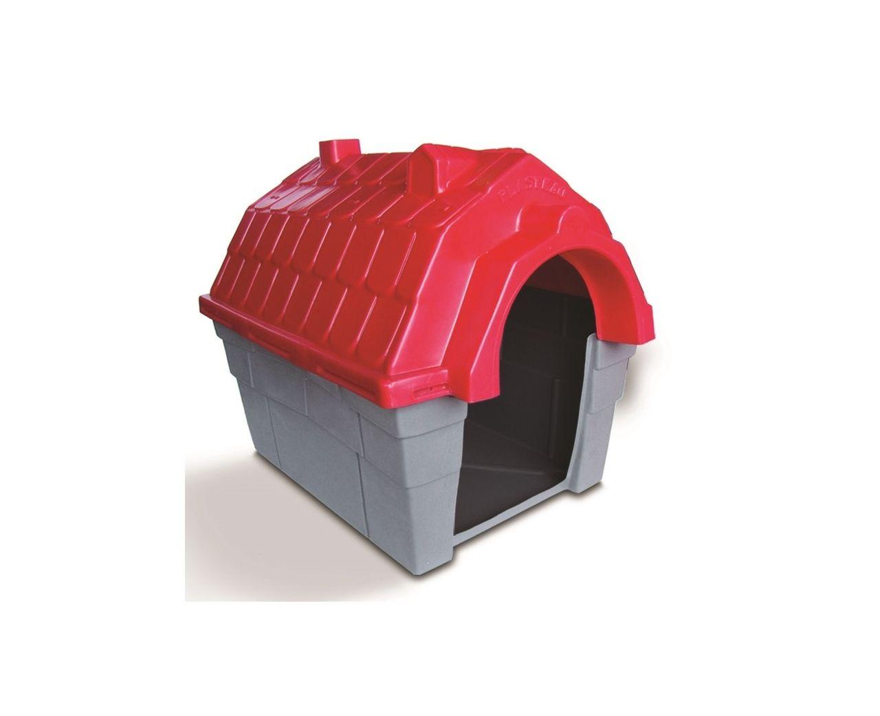 Casinha Cachorro Plástica nº 03 Vermelha