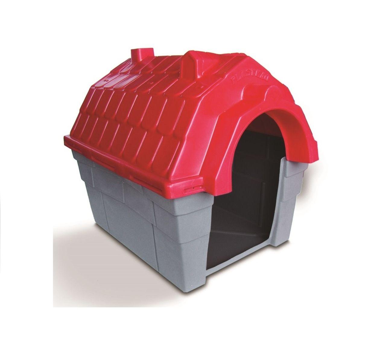 Casinha Cachorro Plástica nº 04 Vermelha