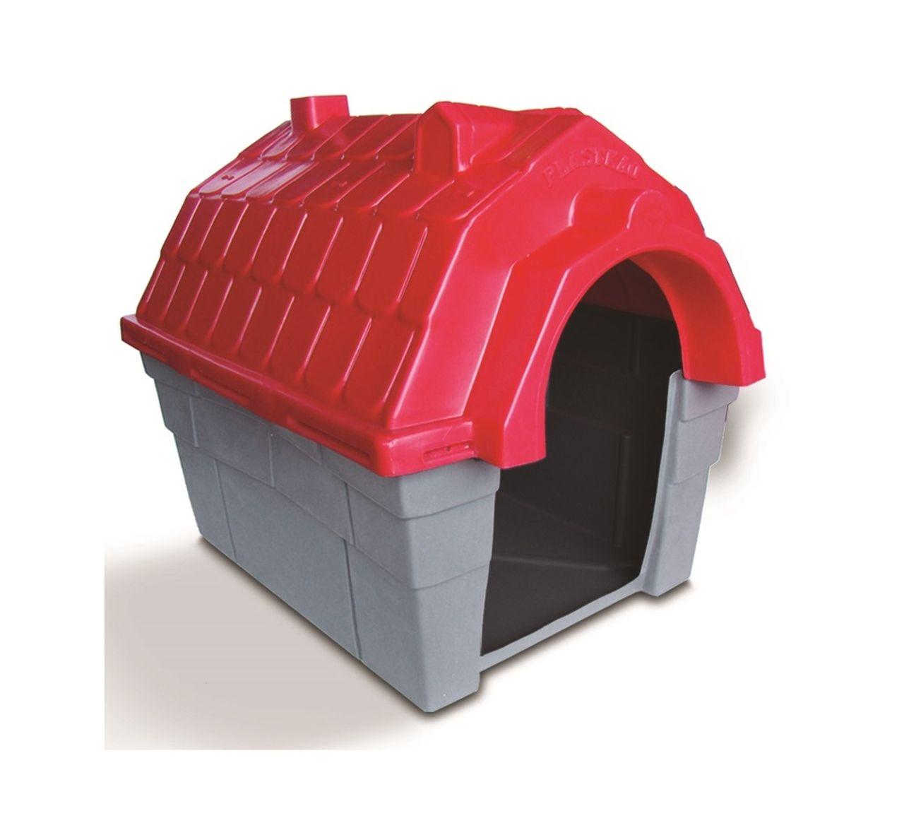 Casinha Cachorro Plástica nº 05 Vermelha