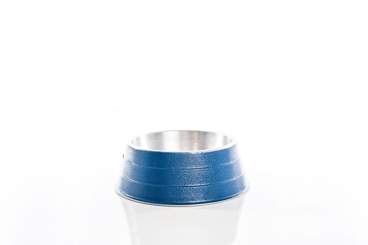 Comedouro alumínio pesado 600ml Azul