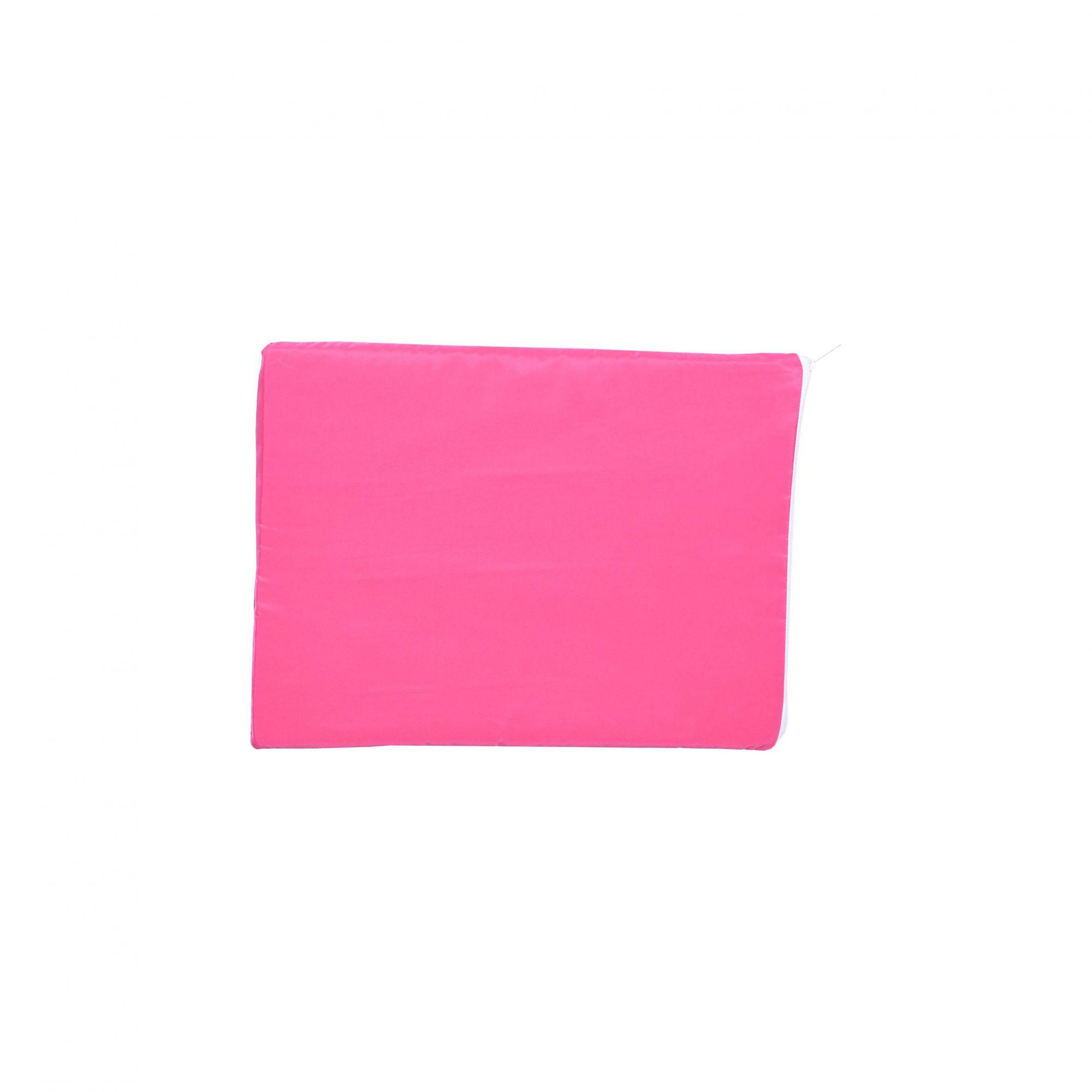 Kit Casinha Madeira 01 com Colchonete Rosa e placa de nome