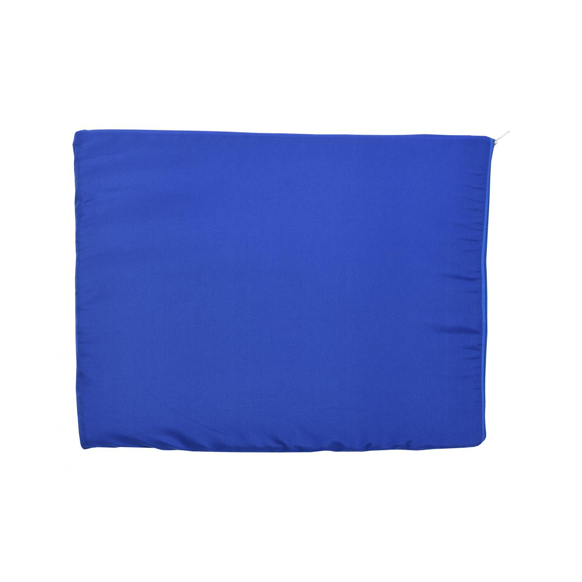 Kit Casinha Madeira 05 com Colchonete Azul e placa de nome