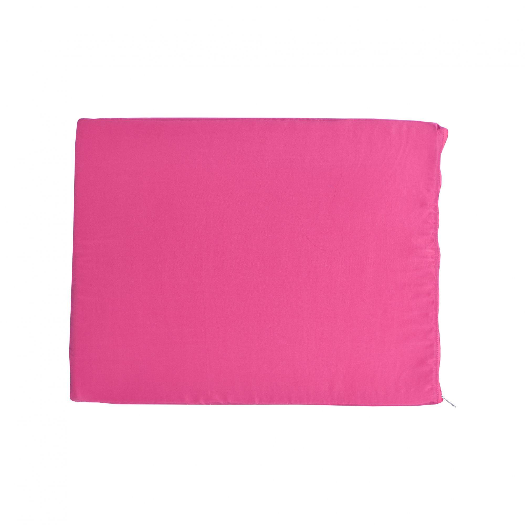 Kit Casinha Madeira 06 com Colchonete Rosa e placa de nome