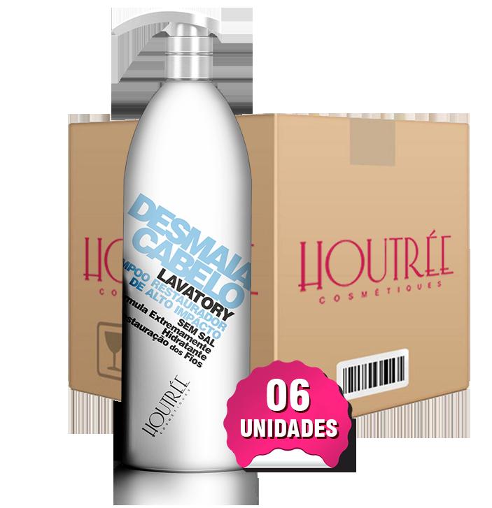 Desmaia Cabelo Shampoo Restaurador 1,5Lt - Caixa com 6 unidades