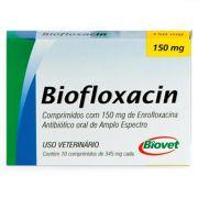 Antibiótico Biofloxacin Biovet 150mg 10 comprimidos