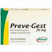 Anticoncepcional Preve-Gest 20mg Biovet