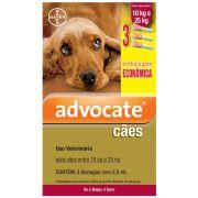 Antipulgas Advocate Cães de 10 a 25kg Combo 3Un