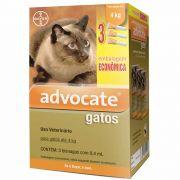 Antipulgas Advocate Gatos até 4kg Combo 3Un