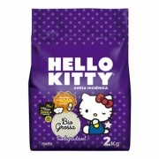 Areia Higiênica Biodegradável Hello Kitty Grossa 2kg