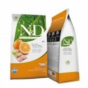 N&D Feline Adult Peixe e Laranja Livre de Cereais