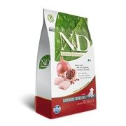 N&D Medium Puppy Frango e Romã Livre de Cereais