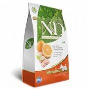 N&D Mini Adult Peixe e Laranja Livre de Cereais