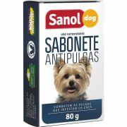 Sabonete Antipulgas Sanol Dog 80g