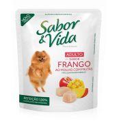 Sabor & Vida Cães Adultos Frango ao Molho com Frutas Sachê