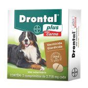Vermífugo Drontal Plus Carne Cães Grandes 02 Comprimidos