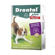 Vermífugo Drontal Plus Carne Cães Médios 04 Comprimidos