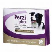 Vermífugo Petzi Plus 10kg 4 Comprimidos