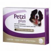 Vermífugo Petzi Plus 40kg 2 Comprimidos