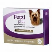 Vermífugo Petzi Plus 5kg 4 Comprimidos