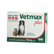 Vermífugo Vetmax Plus 700mg Comprimido