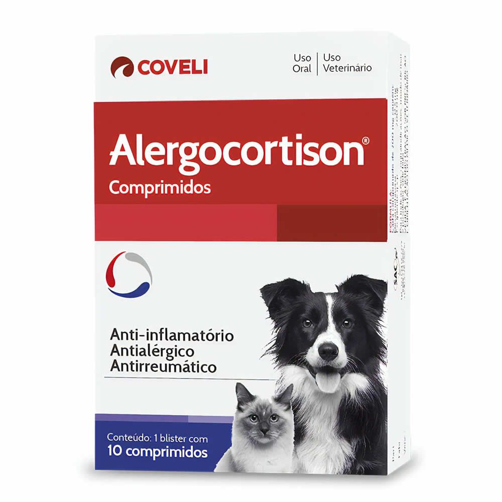 Alergocortison Coveli 10 Comprimidos  - Brasília Pet