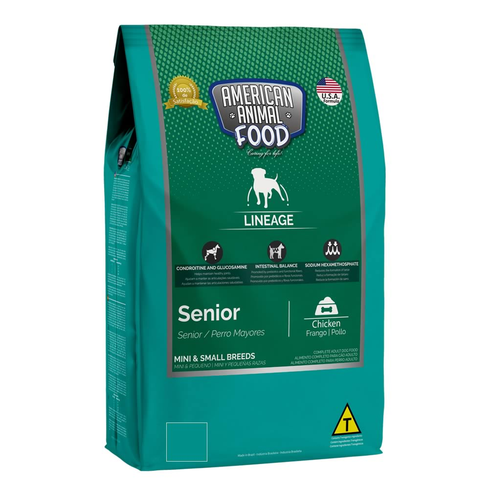 American Animal Food LineAge Senior Mini Frango  - Brasília Pet