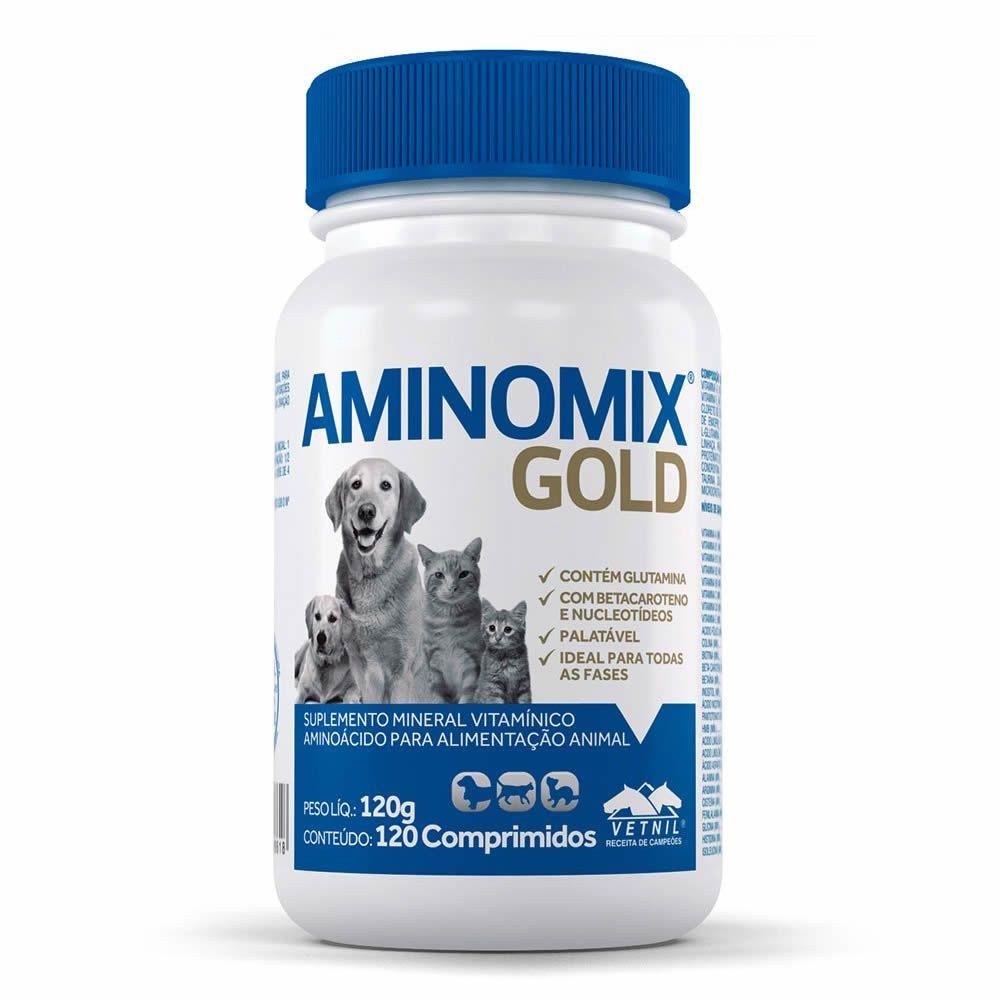 Aminomix Gold 120 Comprimidos  - Brasília Pet
