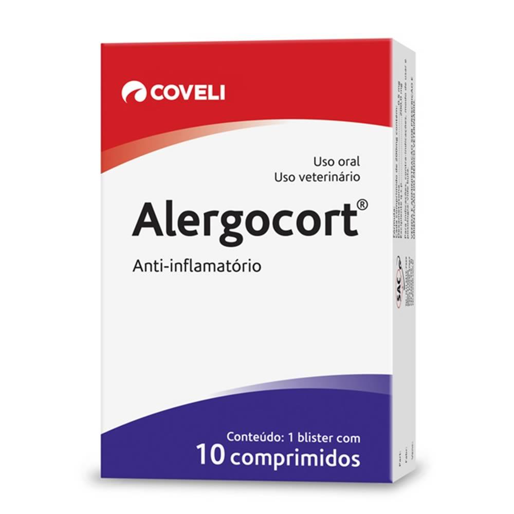 Anti-Inflamatório Alergocort Coveli 10 Comprimidos  - Brasília Pet