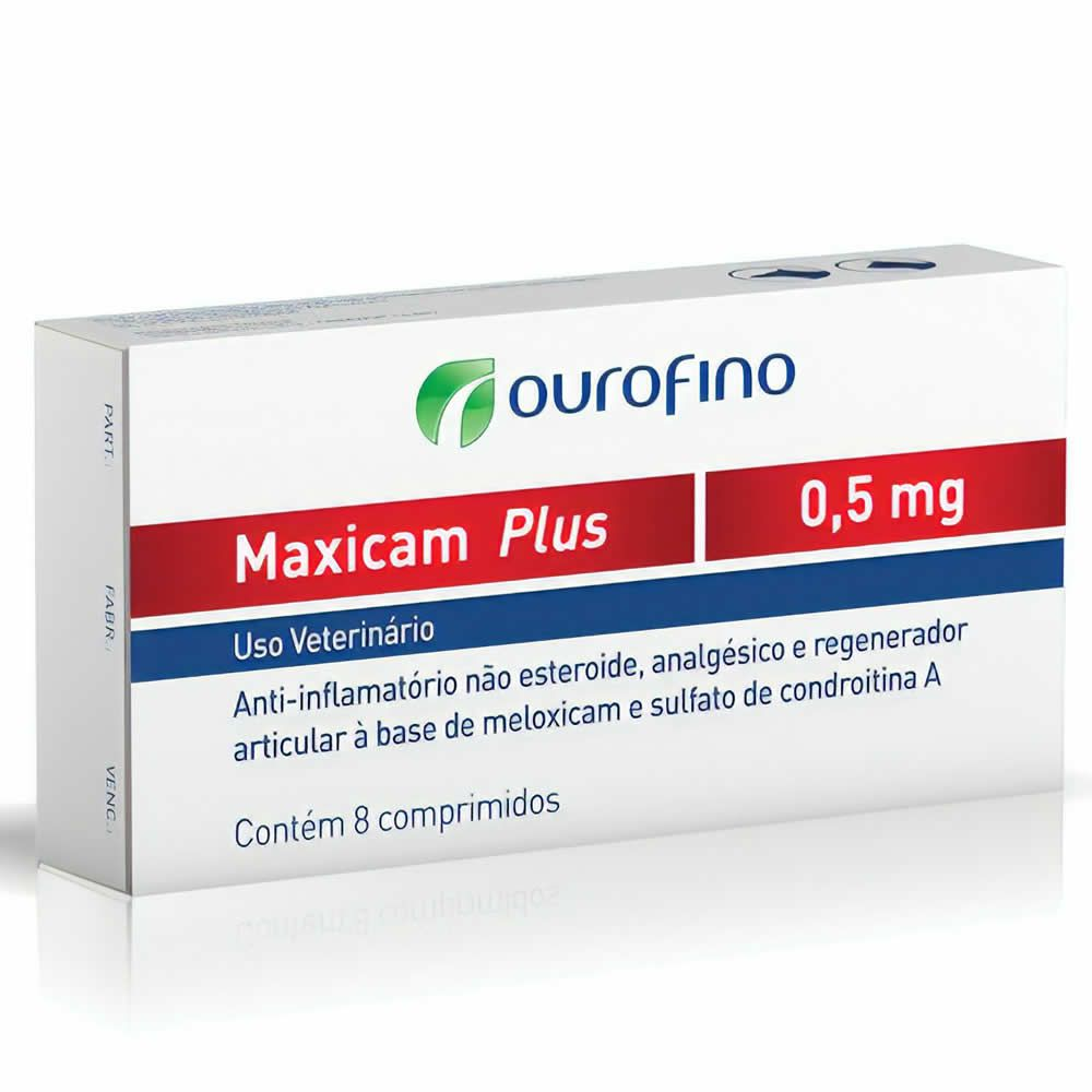 Anti-inflamatório Maxicam Plus Ouro Fino 0,5mg  - Brasília Pet