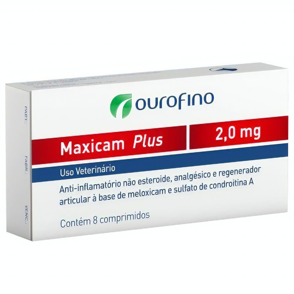 Anti-inflamatório Maxicam Plus Ouro Fino 2,0mg  - Brasília Pet