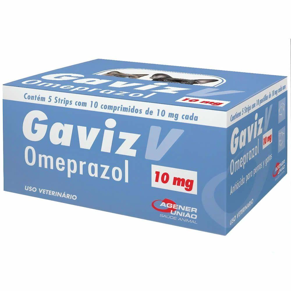 Antiácido Gaviz V 10mg Agener União 10 Comprimidos  - Brasília Pet