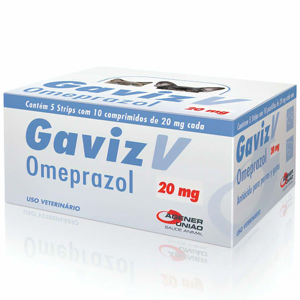 Antiácido Gaviz V 20mg Agener União 10 Comprimidos  - Brasília Pet
