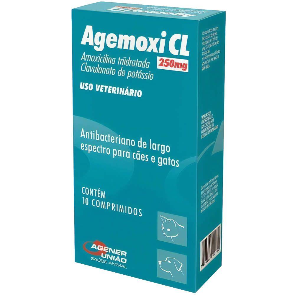 Antibiótico Agemoxi CL Agener União 250mg 10 Comprimidos  - Brasília Pet