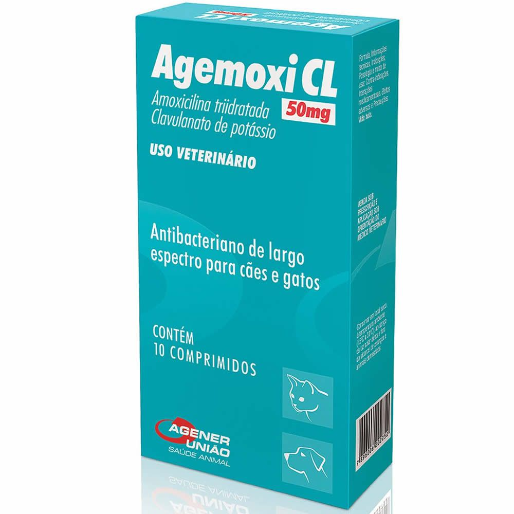 Antibiótico Agemoxi CL Agener União 50Mg  - Brasília Pet