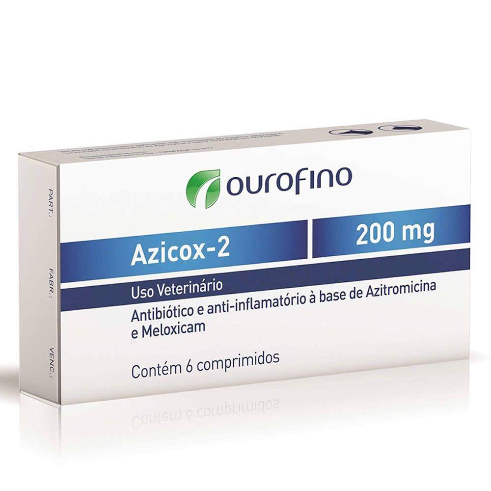 Antibiótico Azicox 2 Ouro Fino 200mg  - Brasília Pet