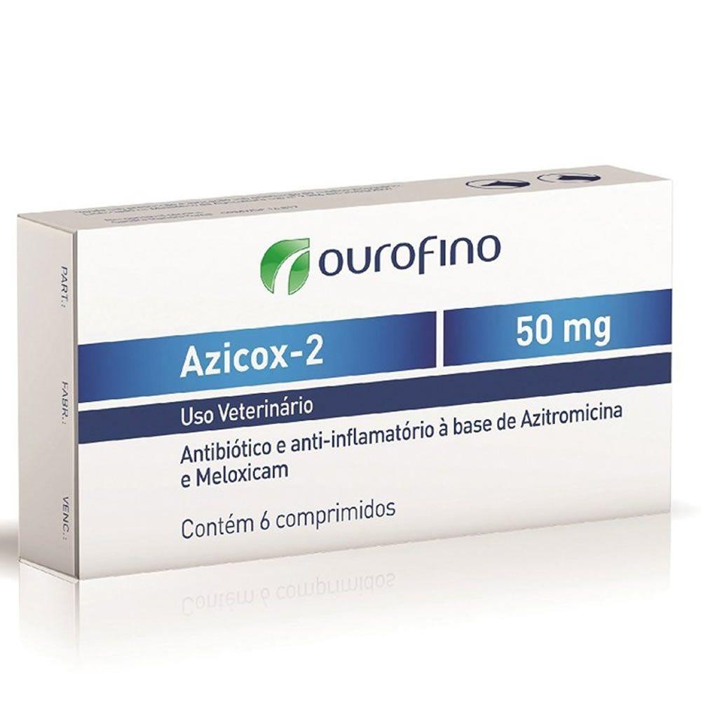Antibiótico Azicox 2 Ouro Fino 50mg  - Brasília Pet