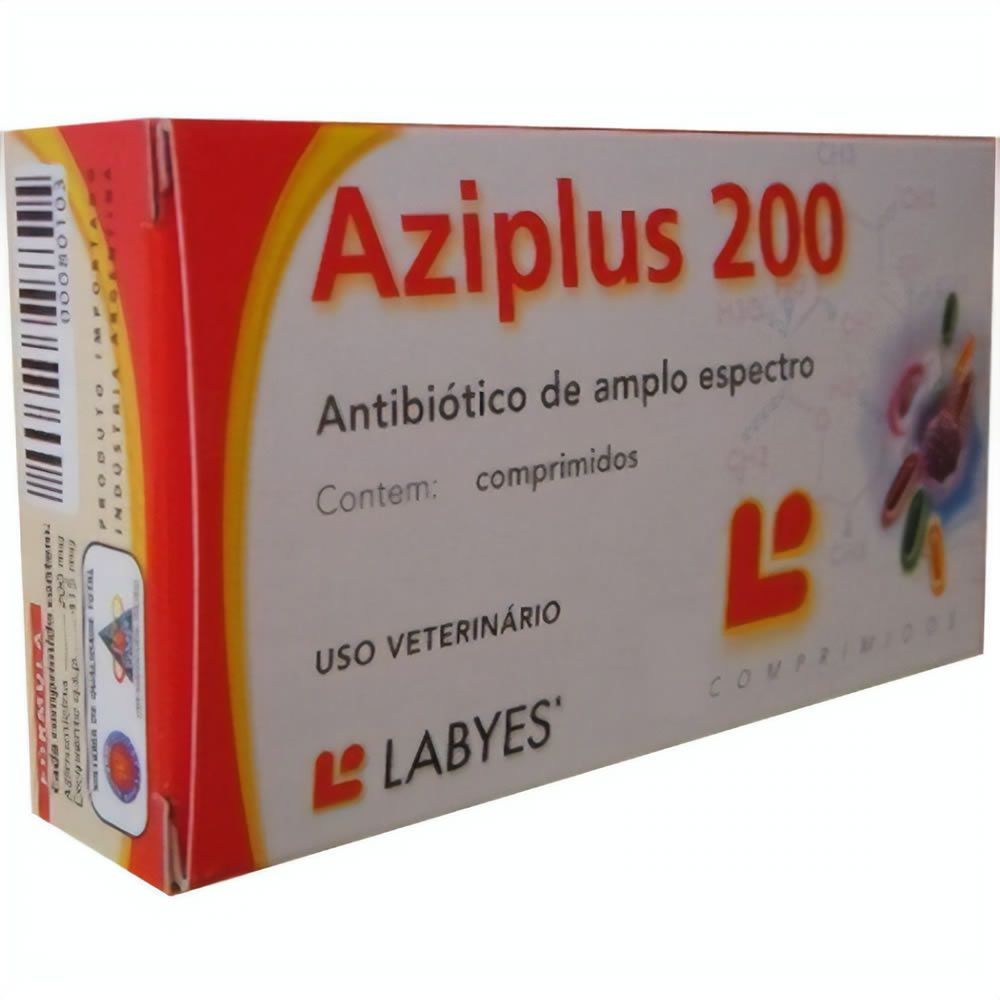 Antibiótico Aziplus Comprimidos 200mg  - Brasília Pet