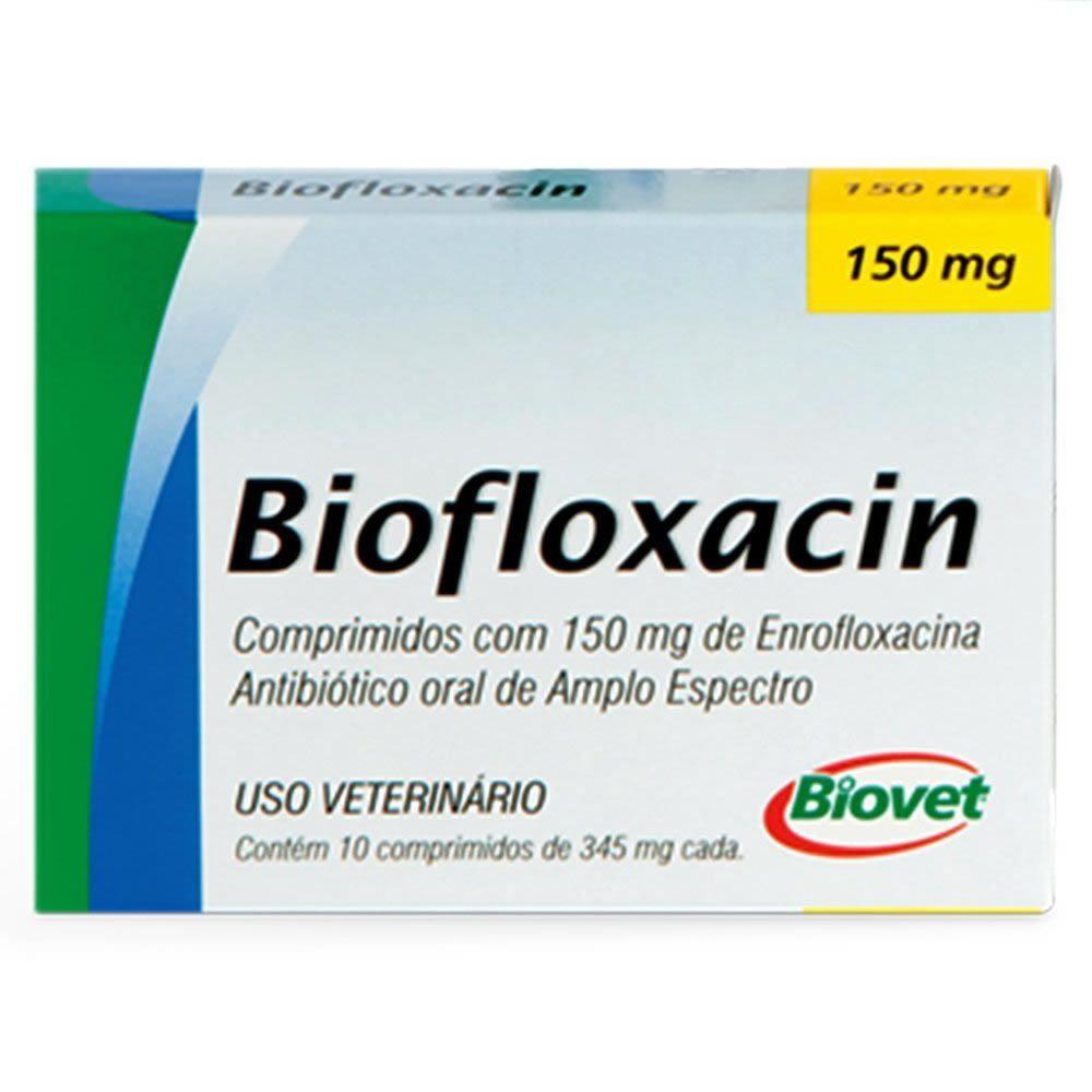 Antibiótico Biofloxacin Biovet 150mg 10 comprimidos  - Brasília Pet