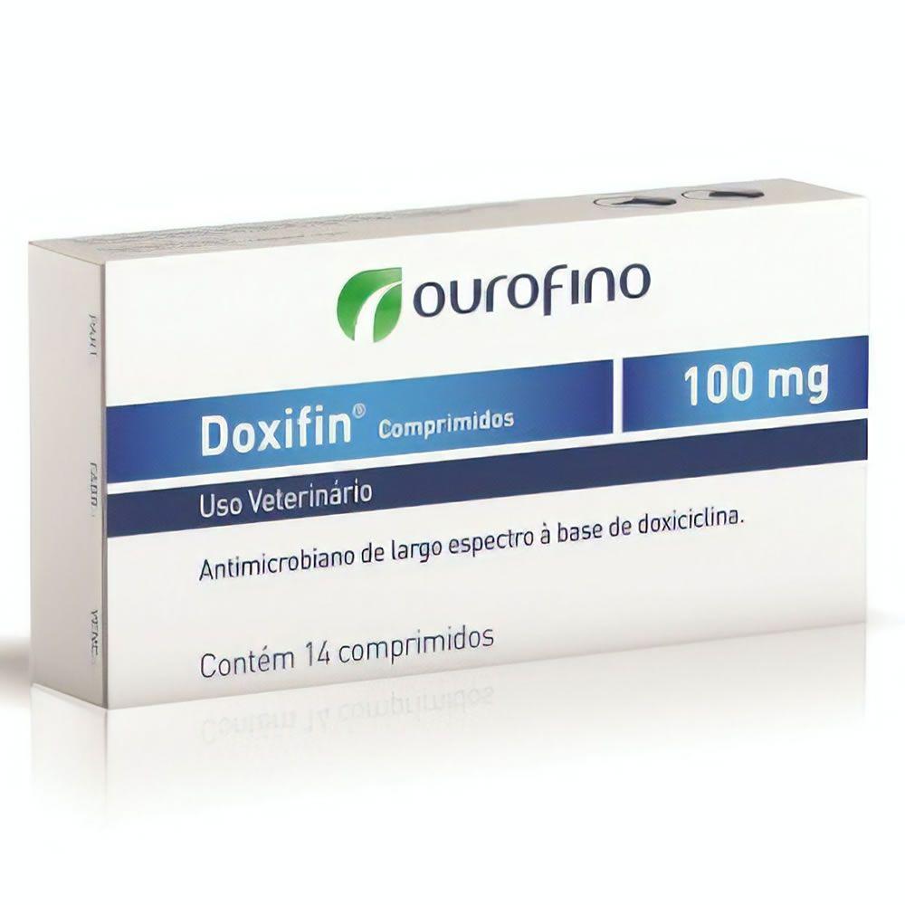 Antibiótico Doxifin Ouro Fino Comprimido 100mg  - Brasília Pet