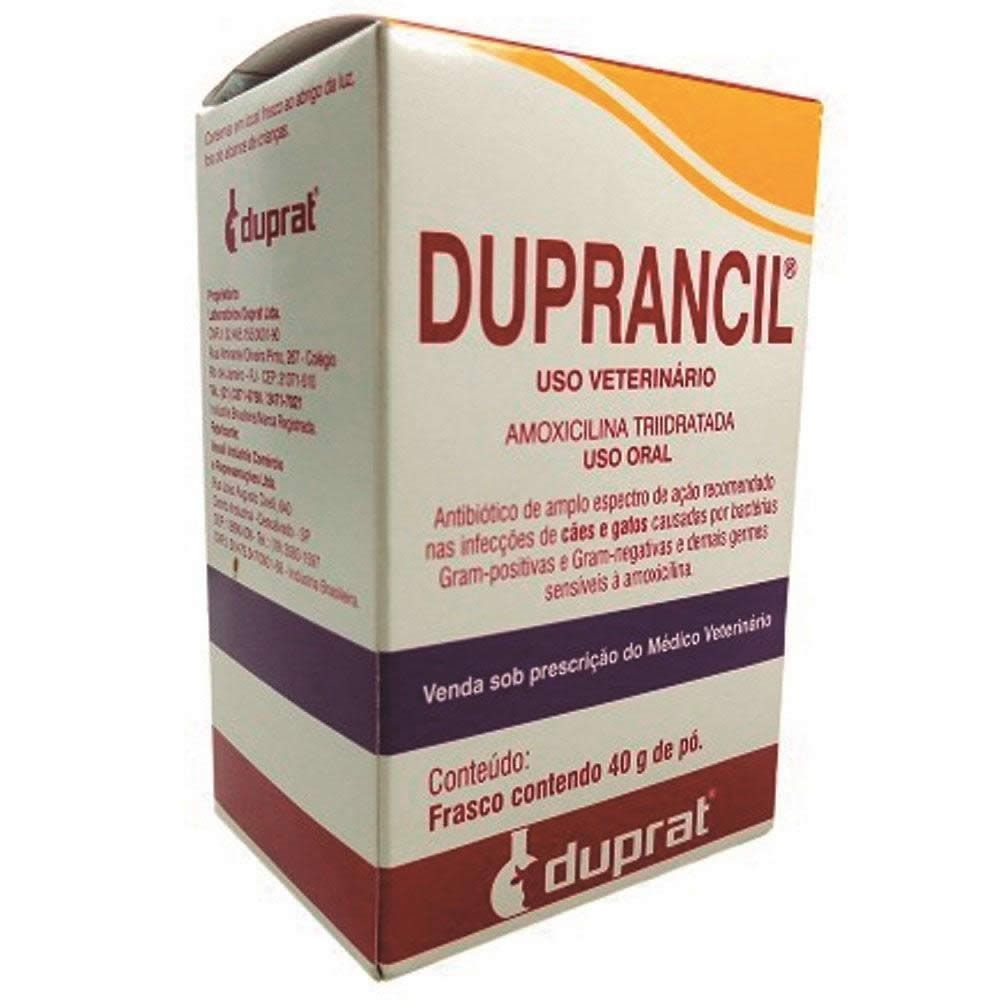 Antibiótico Duprancil Pó Duprat 40g  - Brasília Pet