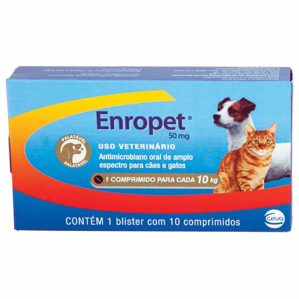 Antibiótico Enropet 50mg  - Brasília Pet