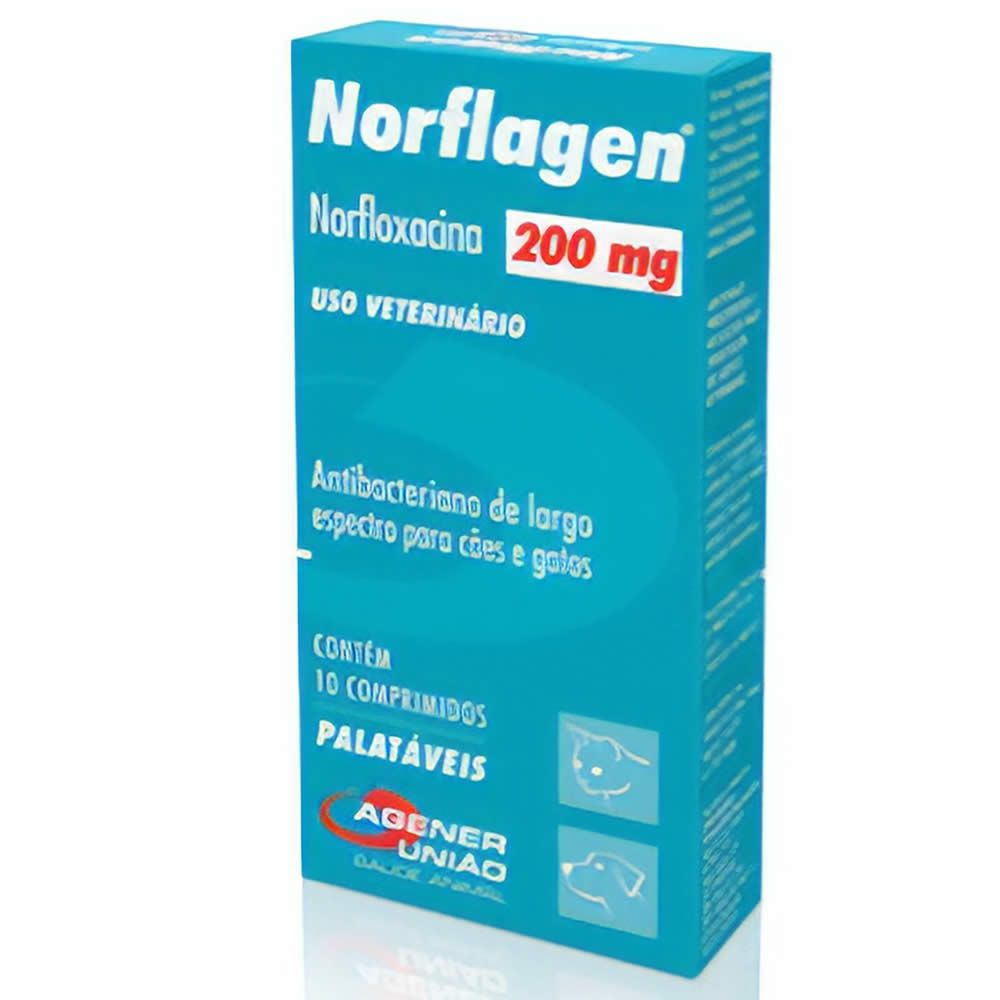Antibiótico Norflagen Agener União 200mg  - Brasília Pet