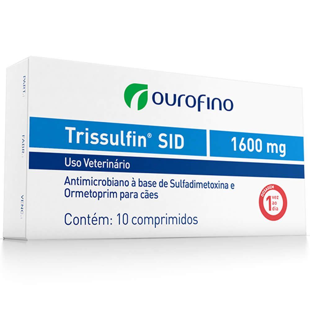 Antibiótico Trissulfin Sid Ouro Fino 1600mg  - Brasília Pet