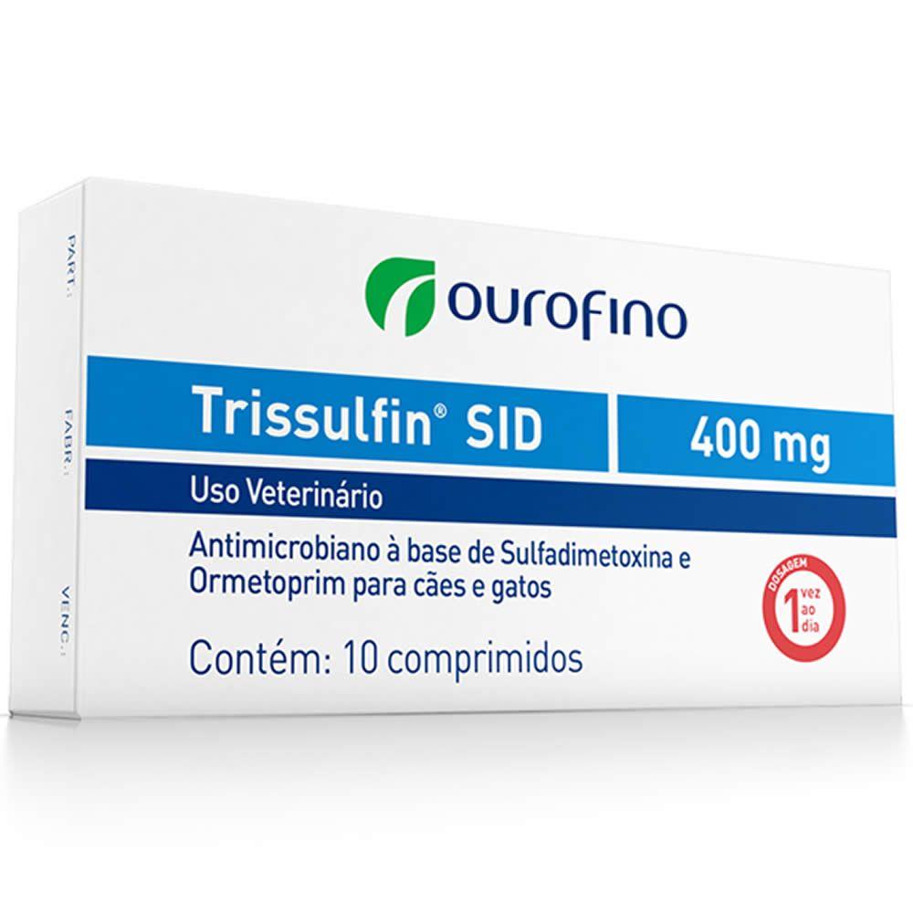 Antibiótico Trissulfin Sid Ouro Fino 400mg  - Brasília Pet
