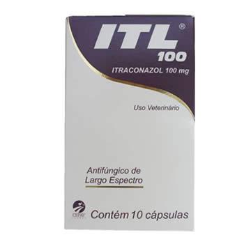 Antifúngico ITL Cepav 100mg 10 Cápsulas  - Brasília Pet